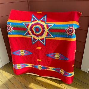 Native American print throw/lap/car/dog blanket